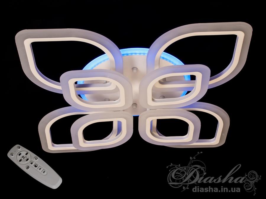 Потолочная LED-люстра с диммером и подсветкой, 150WПотолочные люстры, Светодиодные люстры, Люстры LED, Потолочные, Новинки
