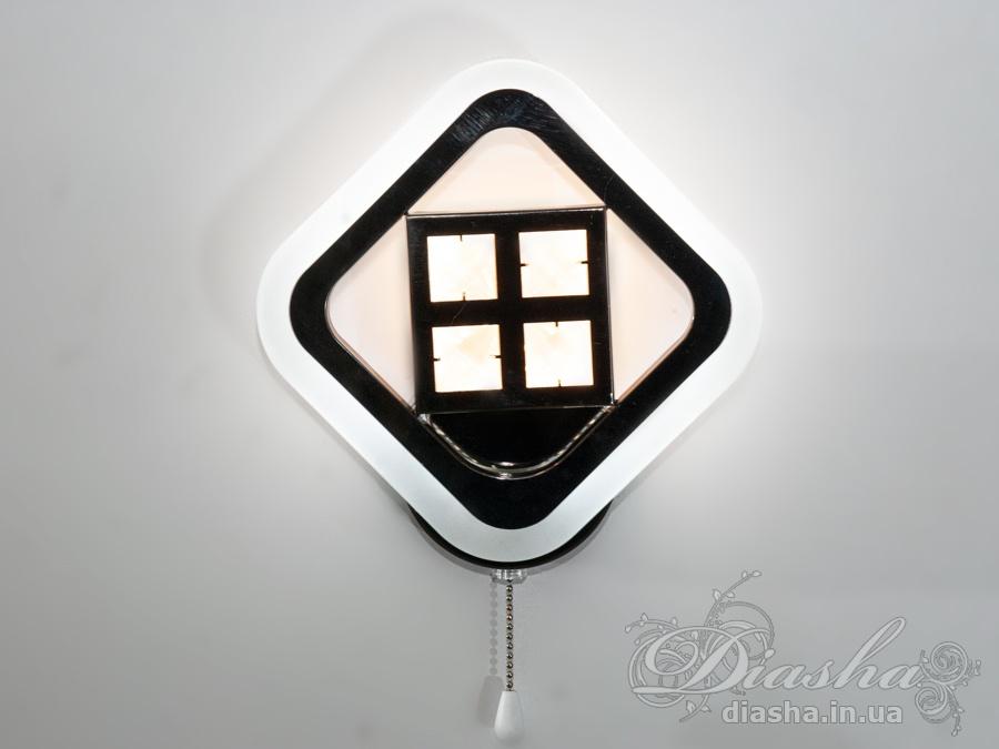 Светодиодное бра, цвет чёрный хром, 21WСветодиодные бра, Новинки