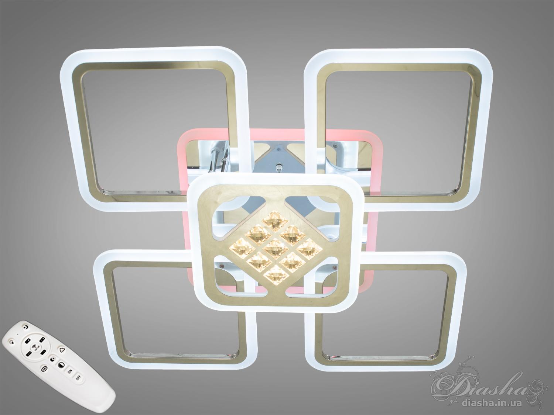 Потолочная светодиодная люстра с диммером 140WПотолочные люстры, Светодиодные люстры, Люстры LED, Потолочные, Новинки