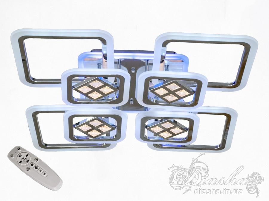 Потолочная светодиодная люстра с диммером 190WПотолочные люстры, Светодиодные люстры, Люстры LED, Потолочные, Новинки