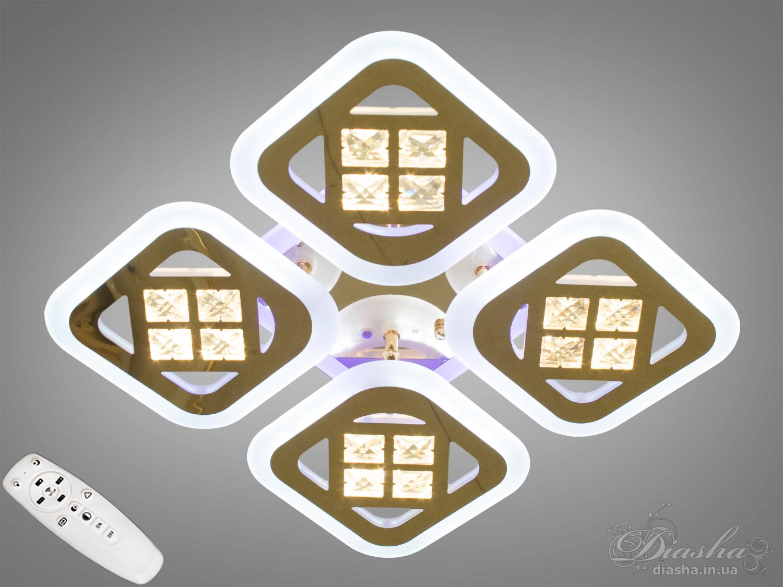 Потолочная светодиодная люстра с диммером 95WПотолочные люстры, Светодиодные люстры, Люстры LED, Потолочные