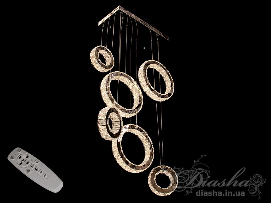 Хрустальная светодиодная люстра-подвес, 110WСветодиодные люстры, Люстры LED, Подвесы LED, Новинки