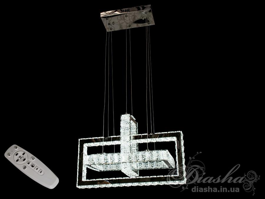 Хрустальная светодиодная люстра-подвес, 95WСветодиодные люстры, Люстры LED, Подвесы LED, Новинки