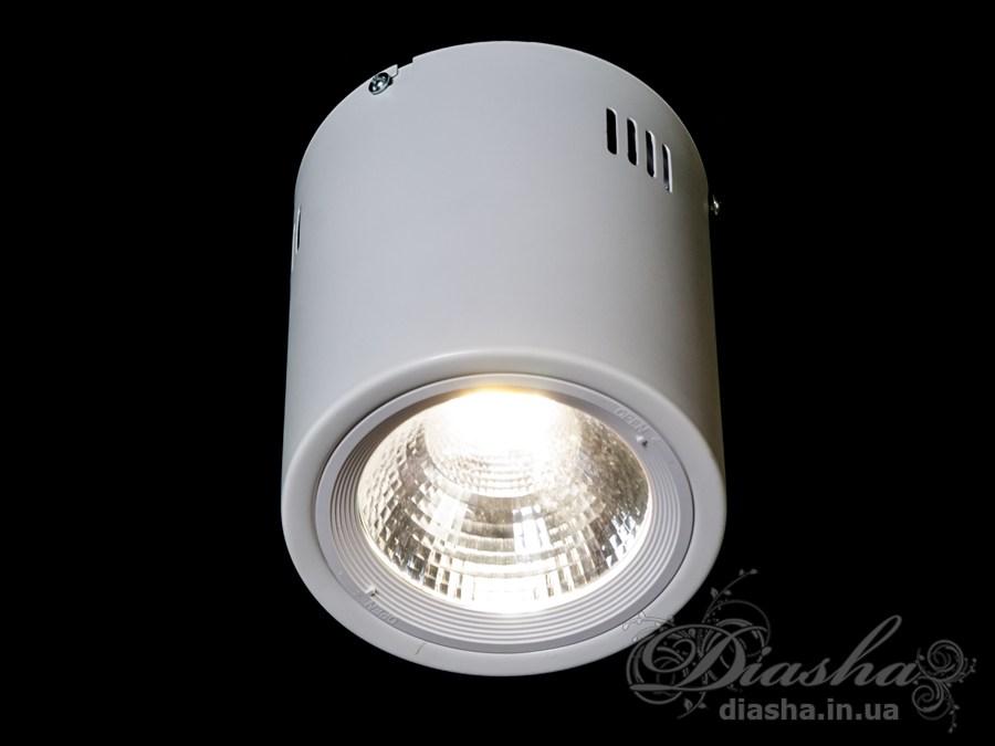 Накладной светодиодный точечный светильник 15WLED downlights, Источники направленного света, Точечные светильники, Подсветка для витрин, Накладные точечные светильники, Светильники-тубы