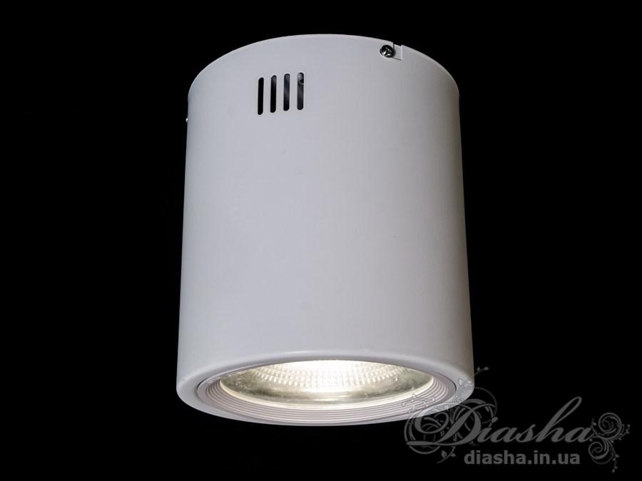 Накладной светодиодный точечный светильник 20WLED downlights, Источники направленного света, Точечные светильники, Подсветка для витрин, Накладные точечные светильники, Светильники-тубы