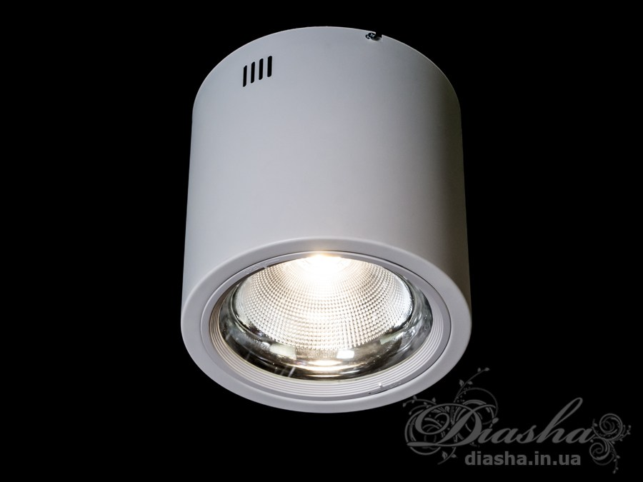 Накладной светодиодный точечный светильник 30WLED downlights, Источники направленного света, Точечные светильники, Подсветка для витрин, Накладные точечные светильники, Светильники-тубы