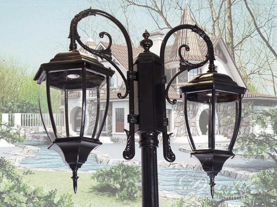 Фонарь садово-парковый на 2 рожкасадовые светильники, уличные светильники, Фонари парковые, Новинки