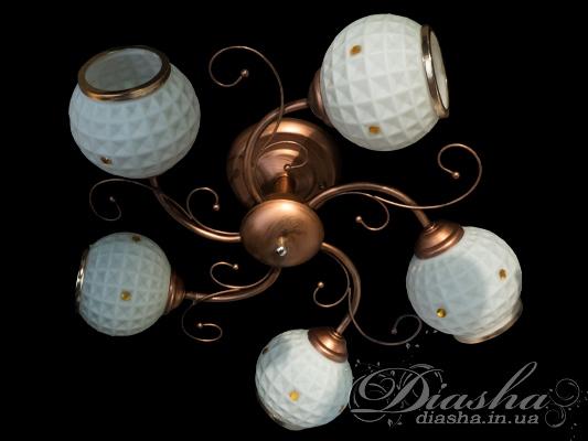 Бронзовая потолочная люстра на 5 лампНедорогие люстры