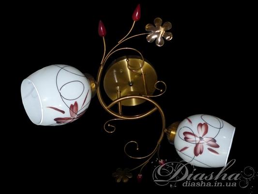 Потолочная люстра на 2 лампыНедорогие люстры