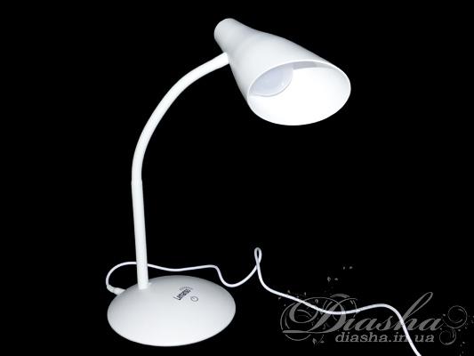 Светодиодная настольная лампа на гибкой ножке. Поворотная светодиодная лампа мощностью 5Вт - замена лампы накаливания 50Вт. Не мерцает, большой срок службы, приятный ровный свет, безопастность использования (напряжение всего 5 вольт) - это только начало списка достоинств данной настольной лампы!Возможно подключение питания по USB. Может быть подключена к внешним аккумуляторам для мобильной техники, или к автомобильному зарядному устроиству для планшетов и телефонов.