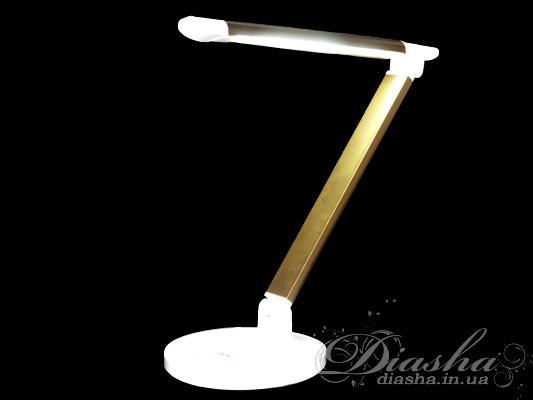 Светодиодная настольная лампа на гибкой ножке. Поворотная светодиодная лампа мощностью 6Вт - замена лампы накаливания 75Вт. Не мерцает, большой срок службы, приятный ровный свет, безопастность использования (напряжение всего 5 вольт) - это только начало списка достоинств данной настольной лампы!Возможно подключение питания по USB. Может быть подключена к внешним аккумуляторам для мобильной техники, или к автомобильному зарядному устроиству для планшетов и телефонов.