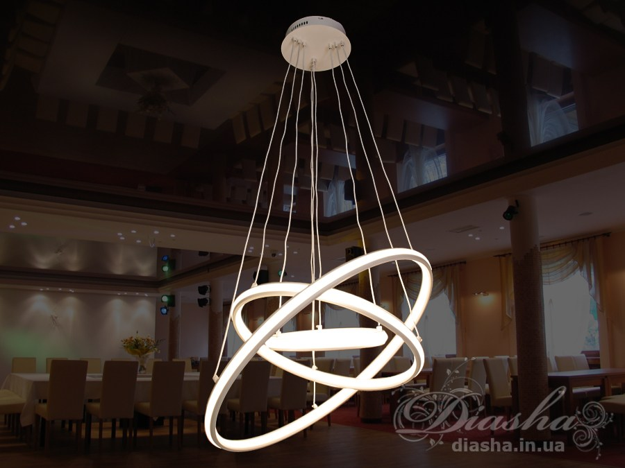 Современная светодиодная люстра,Светодиодные люстры, Люстры LED, Подвесы LED
