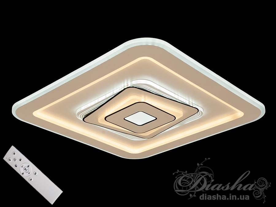 Потолочная светодиодная панель с диммером 120WПотолочные люстры, Светодиодные люстры, Люстры LED, Потолочные, светодиодные панели, Новинки