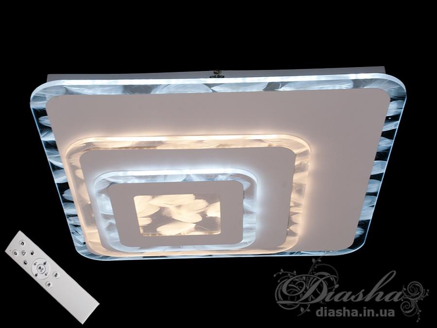 Потолочная светодиодная панель с 3D акрилом и диммером 105WПотолочные люстры, Светодиодные люстры, Люстры LED, Потолочные, светодиодные панели, Новинки