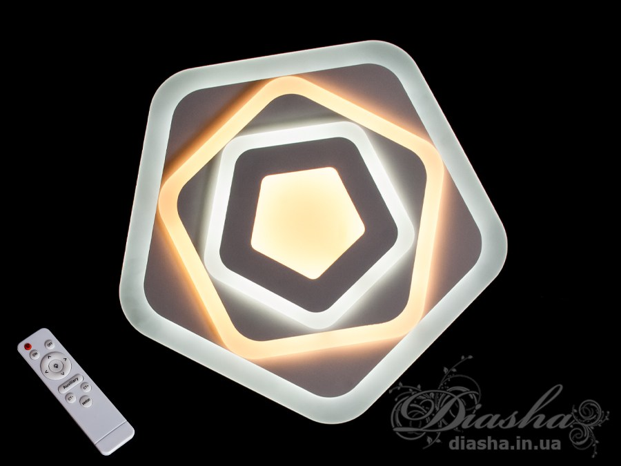 Потолочная светодиодная люстра с диммером 85WПотолочные люстры, Светодиодные люстры, Люстры LED, Потолочные, светодиодные панели, Новинки