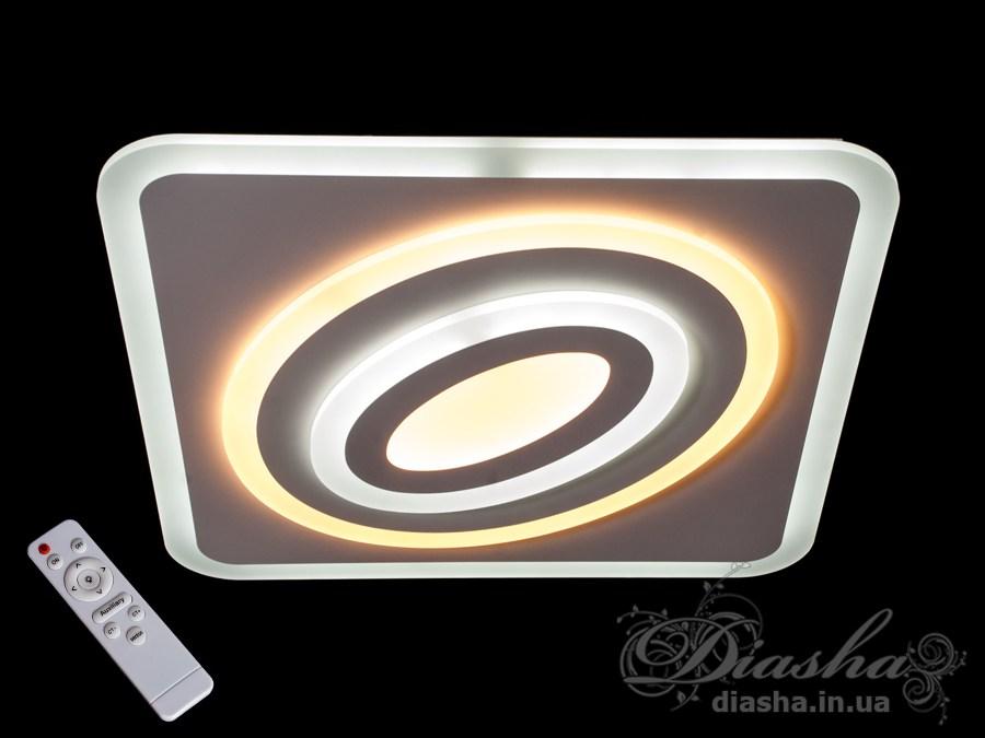 Потолочная светодиодная люстра с диммером 100WПотолочные люстры, Светодиодные люстры, Люстры LED, Потолочные, светодиодные панели