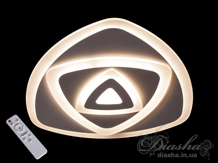 Потолочная светодиодная люстра с диммером 75WПотолочные люстры, Светодиодные люстры, Люстры LED, Потолочные, светодиодные панели, Новинки
