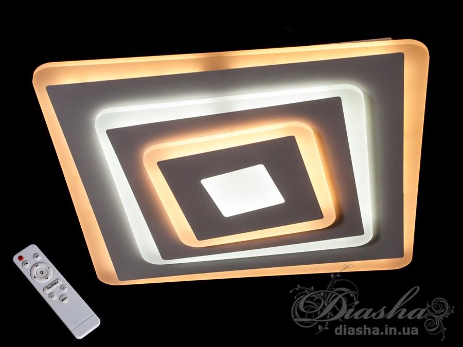 Потолочная светодиодная люстра с диммером 105WПотолочные люстры, Светодиодные люстры, Люстры LED, Потолочные, светодиодные панели, Новинки