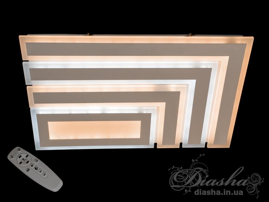 Потолочная светодиодная люстра с диммером 155WПотолочные люстры, Светодиодные люстры, Люстры LED, Потолочные, светодиодные панели, Новинки