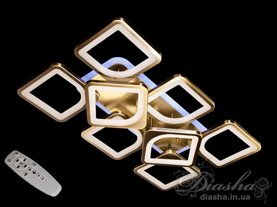 Потолочная LED-люстра с диммером и подсветкой, 100WПотолочные люстры, Светодиодные люстры, Люстры LED, Потолочные, Новинки