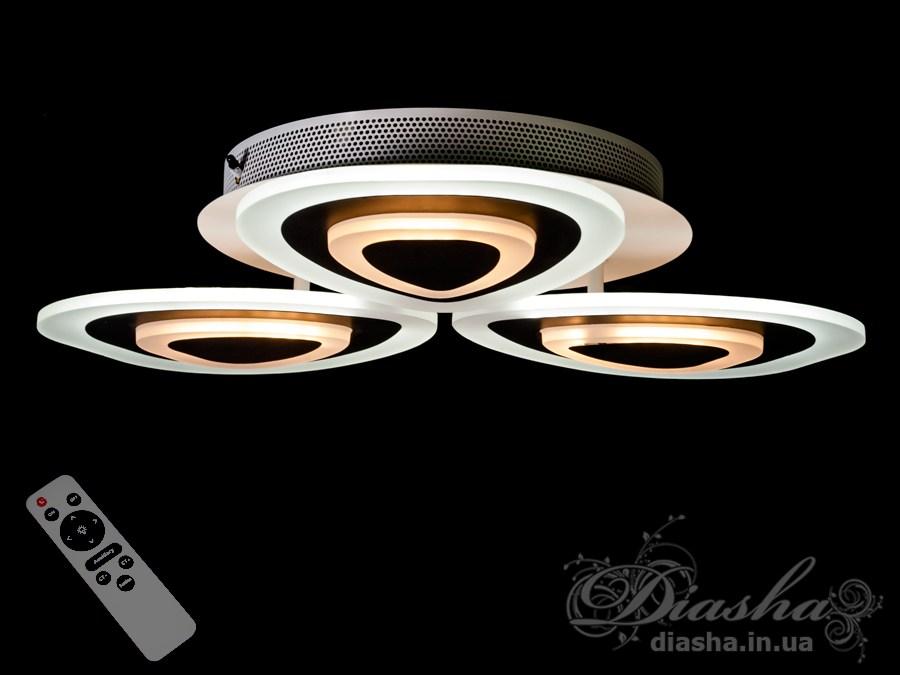 Потолочная LED-люстра с диммером, 54WПотолочные люстры, Светодиодные люстры, Люстры LED, Потолочные, Новинки