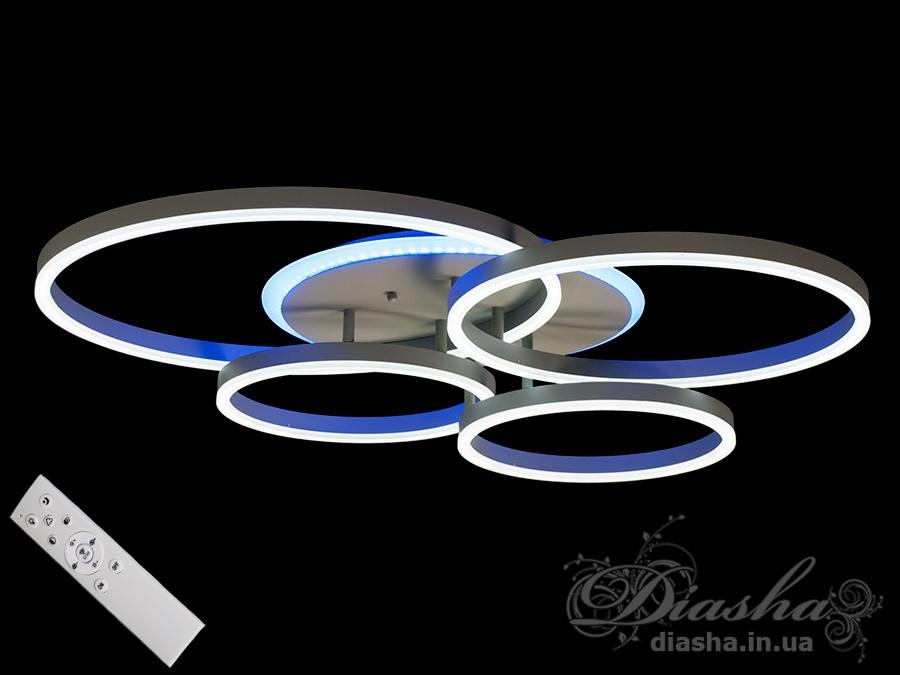 Потолочная светодиодная люстра с диммером 150WПотолочные люстры, Светодиодные люстры, Люстры LED, Потолочные, Новинки