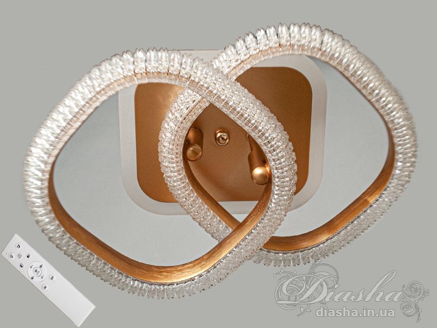 Потолочная LED-люстра с диммером и подсветкой, 45WПотолочные люстры, Светодиодные люстры, светодиодные панели, Люстры LED, Новинки