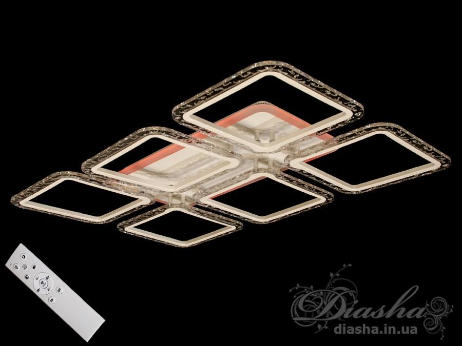 Потолочная светодиодная люстра с диммером 120WПотолочные люстры, Светодиодные люстры, Люстры LED, Потолочные, Новинки