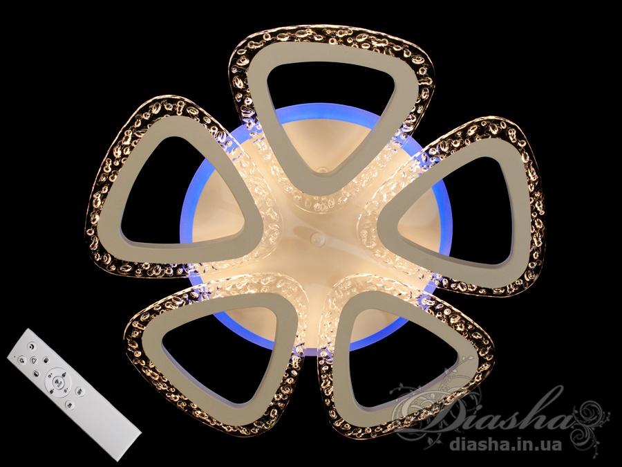 Потолочная светодиодная люстра с диммером 55WПотолочные люстры, Светодиодные люстры, Люстры LED, Потолочные, Новинки