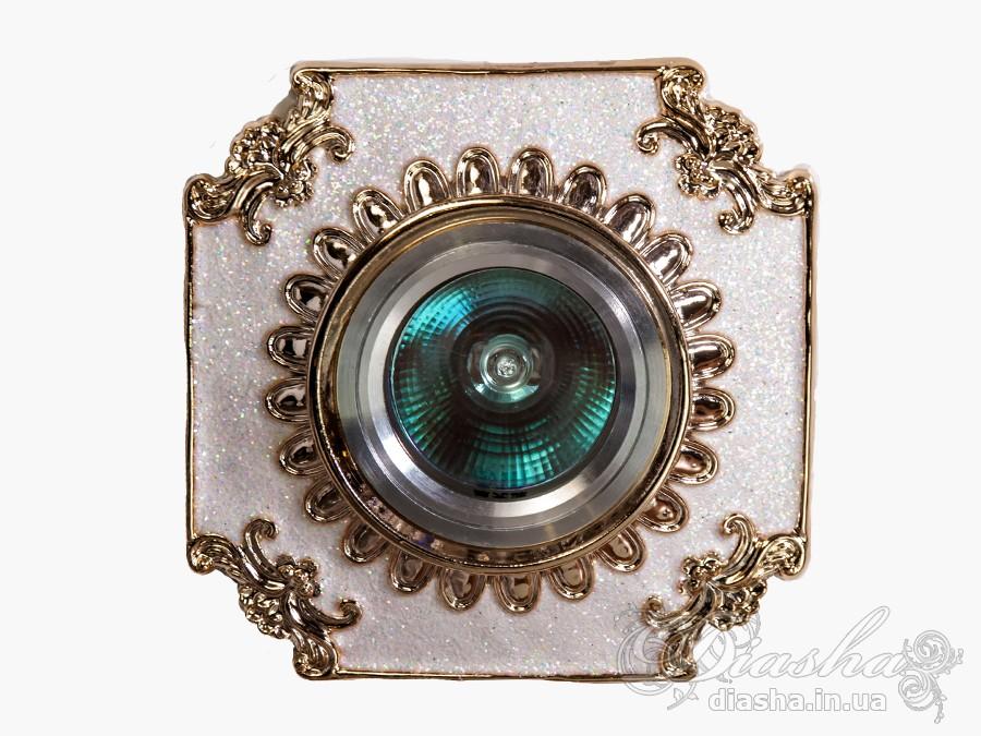 Гипсовый точечный светильникВрезка,Точечные светильники, Лепные светильники, Точечные светильники MR-16