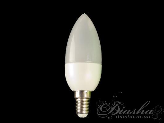 Предназначена для замены стандартной лампы накаливания Е14. По освещенности соответствует лампе накаливания 40Вт. Светодиодные лампы служат минимум в 10 раз дольше, и потребляют на 90% меньше энергии по сравнению с обычными лампами накаливания. LED лампы излучают только видимый спектр света и совершенно не содержат ртути чем выгодно отличаются от «экономок» опасных для здоровья человека. Светодиодные лампы пожаробезопасны, поскольку они не нагреваются и могут использоваться в натяжных потолках. Также преимуществом светодиодных ламп является более рассееный и равномерный свет по сравнению с обычными лампами.