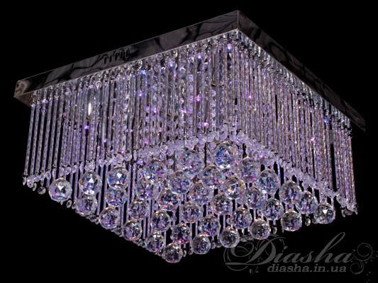 Хрустальная потолочная люстра со светодиодной подсветкойПотолочные люстры, Люстра