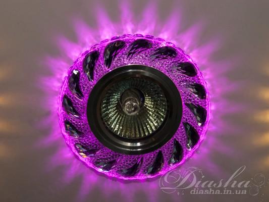 Точечный светильник со встроенной розовой подсветкойВрезка, Точечные светильники из оптической смолы,Точечные светильники, Серия SBT, Точечные светильники MR-16, Новинки