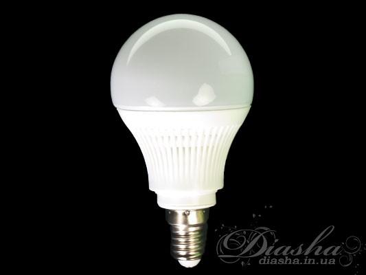 Предназначена для замены стандартной лампы накаливания Е14. По освещенности соответствует лампе накаливания 75Вт. Светодиодные лампы служат минимум в 10 раз дольше, и потребляют на 90% меньше энергии по сравнению с обычными лампами накаливания. LED лампы излучают только видимый спектр света и совершенно не содержат ртути чем выгодно отличаются от «экономок» опасных для здоровья человека. Светодиодные лампы пожаробезопасны, поскольку они не нагреваются и могут использоваться в натяжных потолках. Также преимуществом светодиодных ламп является более рассееный и равномерный свет по сравнению с обычными лампами.