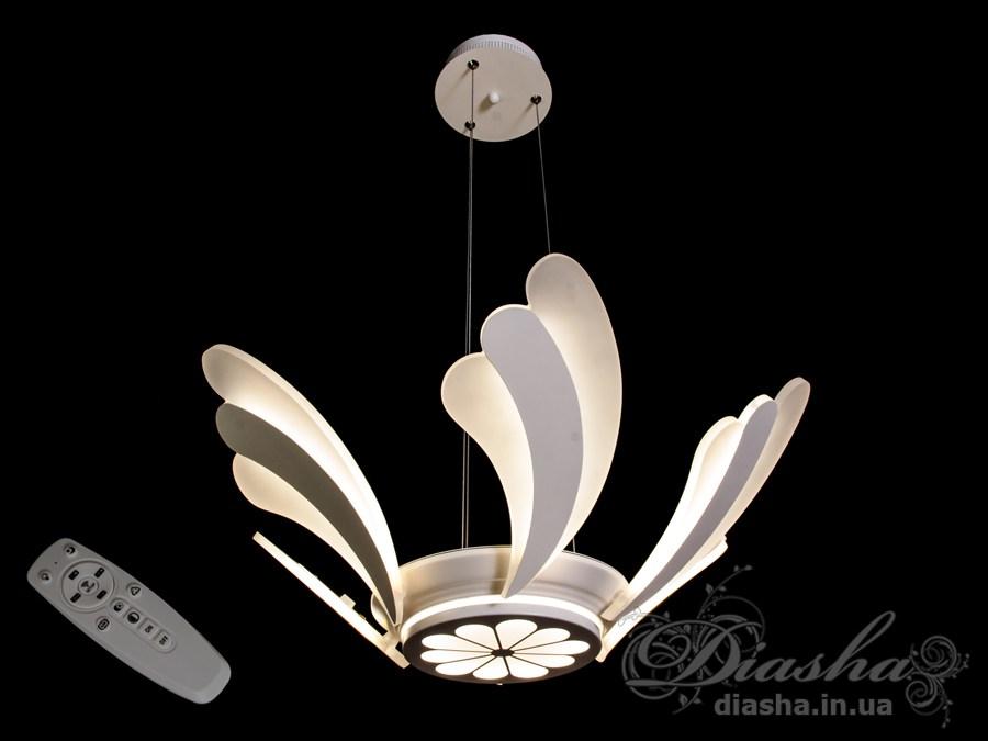 Современная светодиодная люстра с диммером, 100WСветодиодные люстры, Люстры LED, Подвесы LED