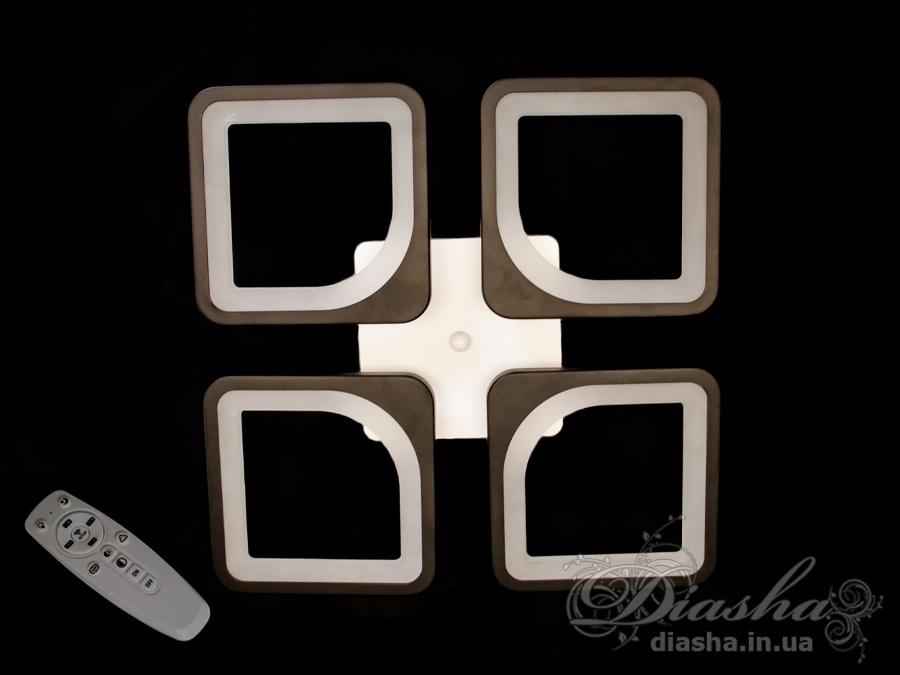 Потолочная LED-люстра с диммером, 75WПотолочные люстры, Светодиодные люстры, Люстры LED, Потолочные, Новинки