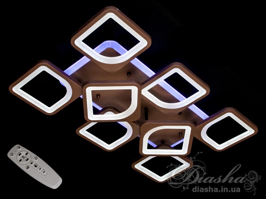Потолочная люстра с диммером и LED подсветкой, цвет золото, 160WПотолочные люстры, Светодиодные люстры, Люстры LED, Потолочные, Новинки