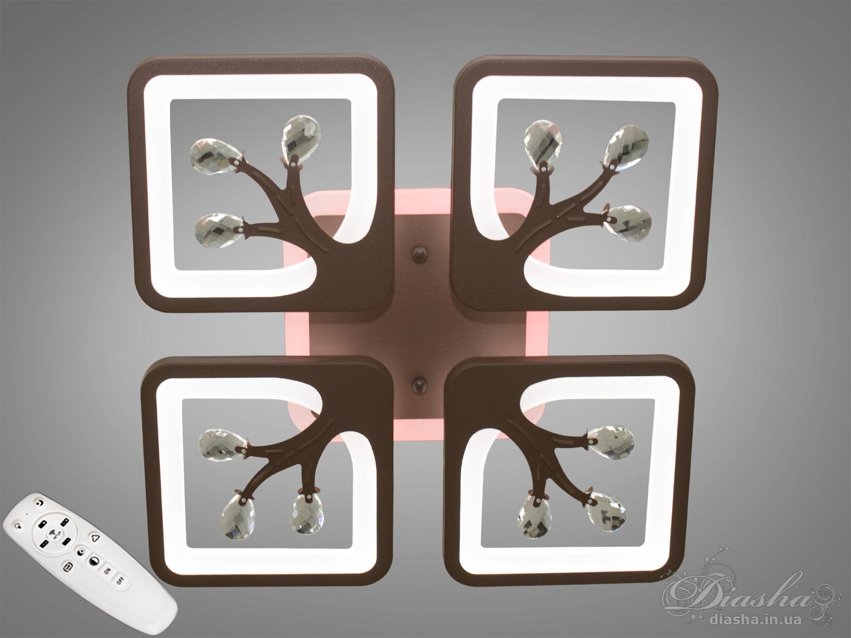 LED люстра с димером и подсветкой, 85WПотолочные люстры, Светодиодные люстры, Люстры LED, Потолочные, Новинки