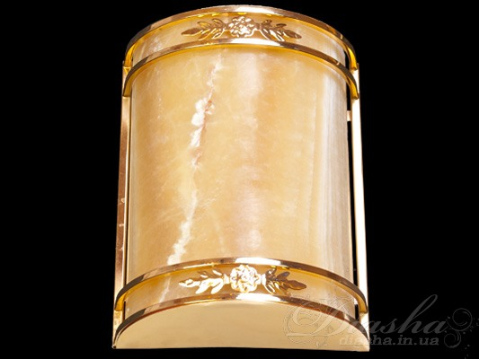 Светильник настенный с плафоном из благородного камняСветильники из натурального камня, Бра классические