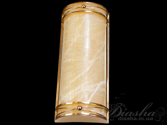 Светильник настенный с рассеивателем из благородного ониксаСветильники из натурального камня, Бра классические