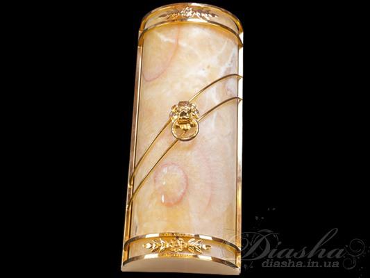 Настенный светильник с плафоном из благородного камняСветильники из натурального камня, Бра классические