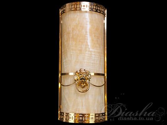 Светильник настенный из природного ониксаСветильники из натурального камня, Бра классические