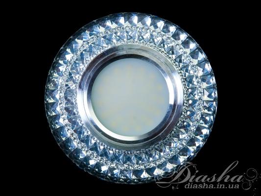 Обычно точечные светильники предназначаются для подвесных потолков и для подсветки различных нишили рабочей поверхности. Конструктивно точечный светильник состоит из двух частей: видимой - декоративной и встроенной – функциональной. Функциональная часть светильников состоит из каркаса, куда вставляется источник света и крепится декоративная часть, а также зажимов, которые предназначены для крепления светильника к потолку. Разнообразие декоративной части точечных светильниковпозволяет сделать Ваш интерьер неповторимым. Главные качества современных точечных светильников – это равномерное освещение всего помещения с возможностью акцентирования необходимых деталей интерьера.Для оптовых покупателей отпускается только ящиками по 50шт.Лампа и трансформатор в комплект не входят.