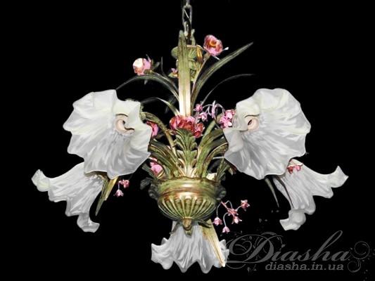Классическая цветочная люстра на 5 лампЛюстры классика