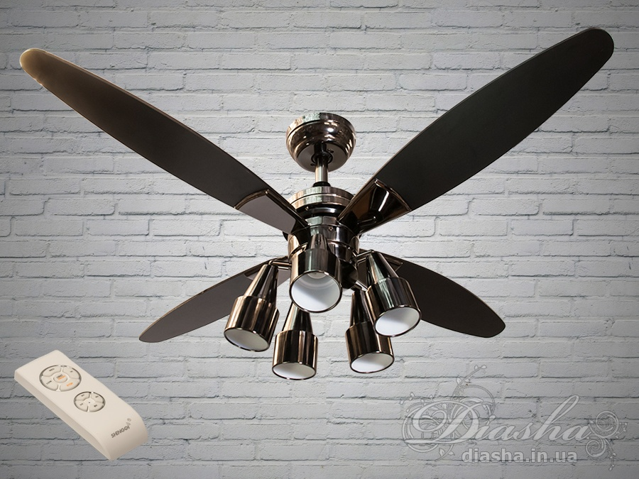 Люстра-вентилятор с пультомСветильники