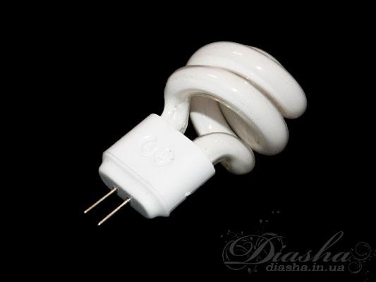Люминисцентная энергосберегающая лампочка позволяет сократить расход электричества более чем в 4 раза. Энергосберегающая лампа (экономка) мощностью 5Вт светит как 20-25 ваттная галогеновая лампа того же размера. Миниатюрное исполнение ламп позволит использовать их вместо обычных галогеновых ламп для патрона G4Мощность: 5Вт Цветовая температура: 2700К Патрон: G4 Наибольший диаметр: 28мм Высота без контактов: 45мм Внимание!!! Для использования экономных ламп в люстре или другом осветительном приборе необходимо заменить трансформатор для галогеновых ламп на пуско-регулирующее устройство типа: [!--(linkToTovarImg(